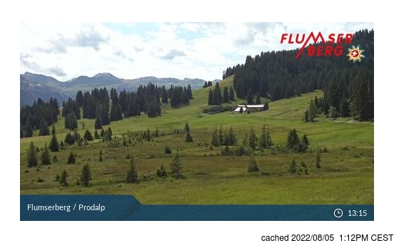 Live Snow webcam for Flumserberg