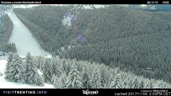 Folgarida-Marilleva webcam at 2pm yesterday