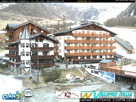 Foppolo webcam at 2pm yesterday