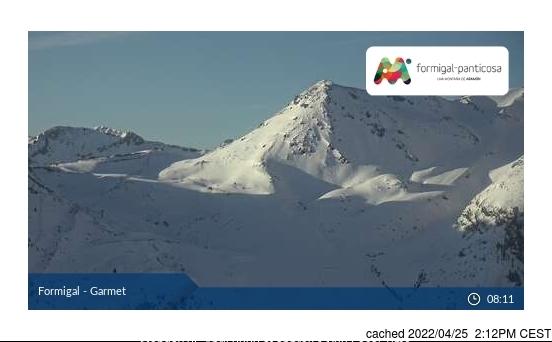 dün saat 14:00'te Formigal'deki webcam
