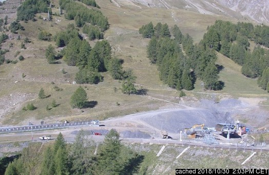 Val d'Allos – La Foux (Espace Lumière) webcam at lunchtime today