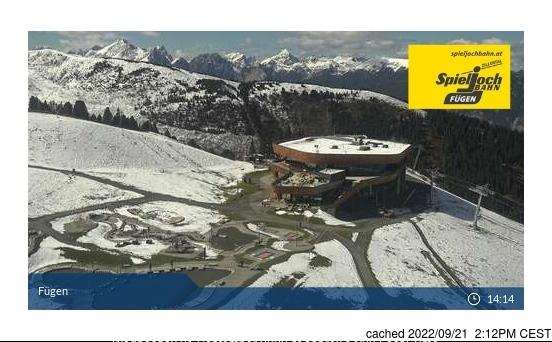 Fügen/Spieljoch webcam all'ora di pranzo di oggi