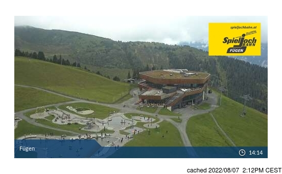 Live webcam per Fügen/Spieljoch se disponibile