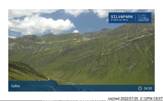 Galtur-Silvapark webcam at lunchtime today