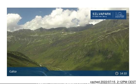 Webcam de Galtur-Silvapark a las doce hoy
