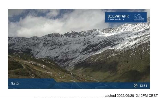 Galtur-Silvapark webkamera ze včerejška ve 14 hod.