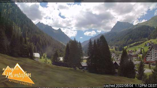 Gargellen webcam at 2pm yesterday