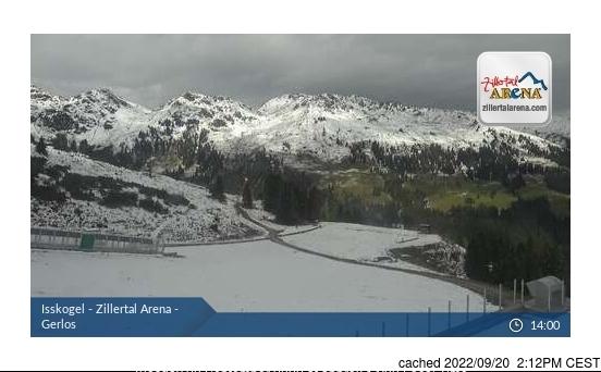 Gerlos webcam at 2pm yesterday