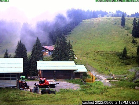 Grasgehren/Bolgengrat webcam at lunchtime today