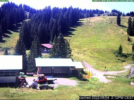 Grasgehren/Bolgengrat webcam at 2pm yesterday
