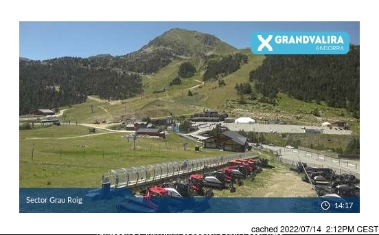 Grandvalira-Grau Roig webcam all'ora di pranzo di oggi