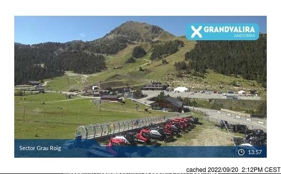 Grandvalira-Grau Roig webbkamera vid kl 14.00 igår