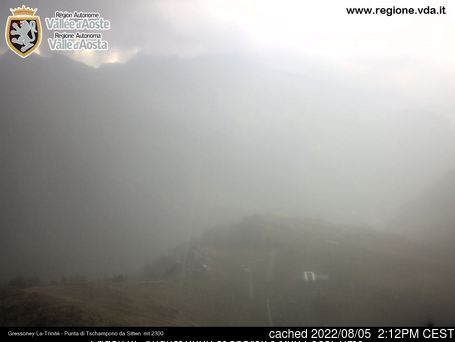 Gressoney-la-Trinite webcam at 2pm yesterday