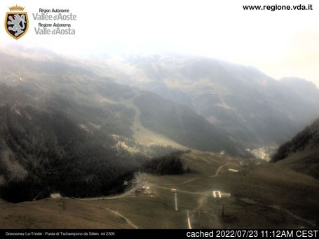 Live Snow webcam for Gressoney-la-Trinite