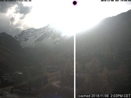 Grimentz webcam at 2pm yesterday