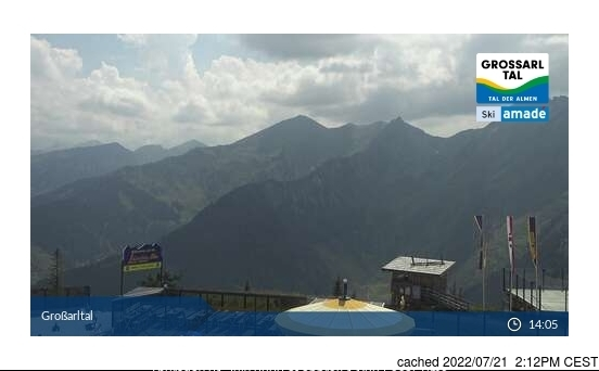 Grossarl-Dorfgastein webcam at lunchtime today