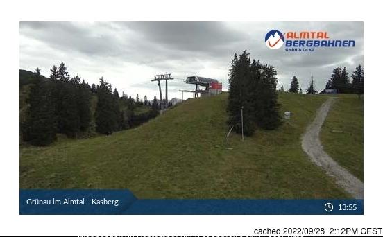 Grünau im Almtal webcam at 2pm yesterday