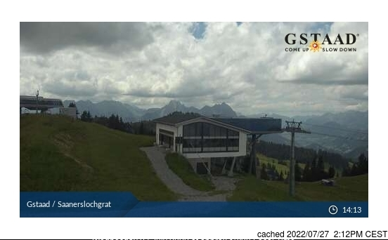 Gstaad webcam at lunchtime today