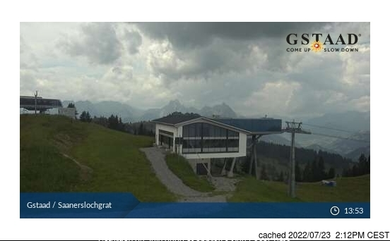 Gstaad webcam at 2pm yesterday