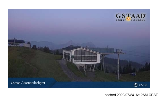 Live Snow webcam for Gstaad