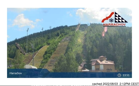 Harrachov webcam at lunchtime today