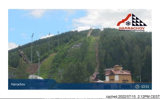Harrachov Webcam gestern um 14.00Uhr