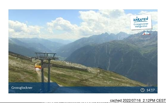 Heiligenblut webcam at lunchtime today