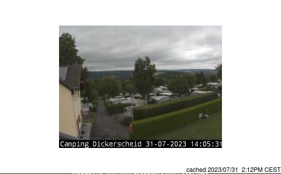 Hellenthal/Skiarena Weisser Stein webkamera ze včerejška ve 14 hod.