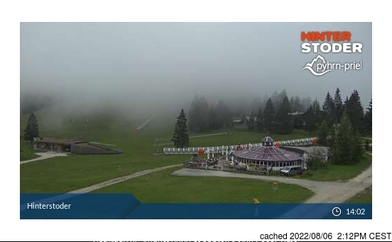 Hinterstoder webcam at lunchtime today