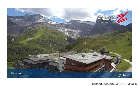 Hintertux webcam at lunchtime today