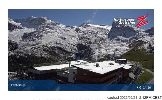 Webcam de Hintertux à midi aujourd'hui
