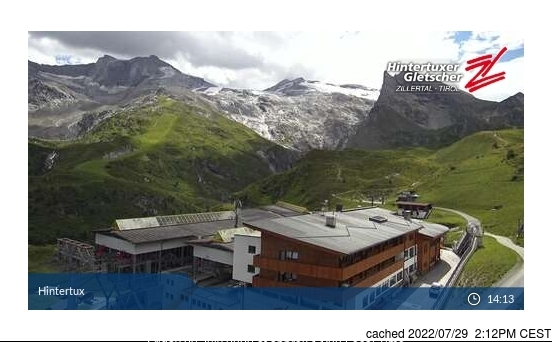 Webcam de Hintertux à 14h hier