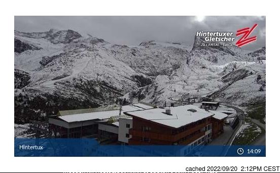 Webcam de Hintertux a las 2 de la tarde hoy
