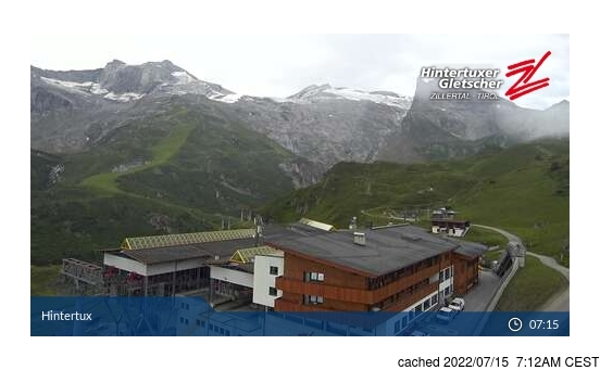 Live Snow webcam for Hintertux