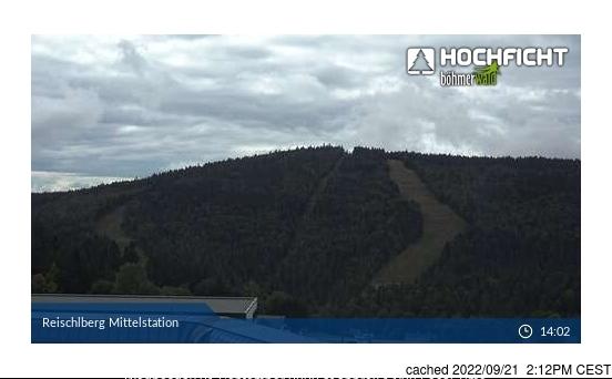 Hochficht-Schwarzenberg webcam at lunchtime today