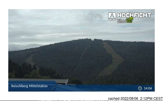 Hochficht-Schwarzenberg webcam at 2pm yesterday
