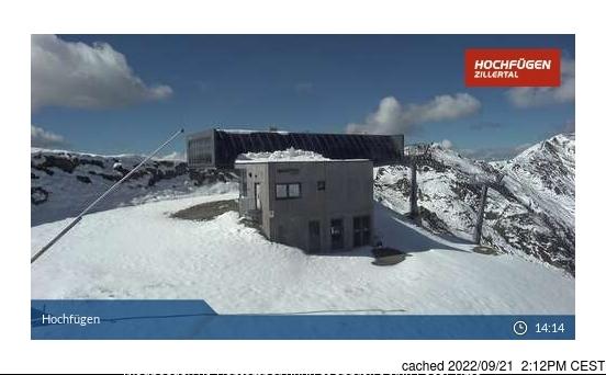 Hochfügen webcam at lunchtime today