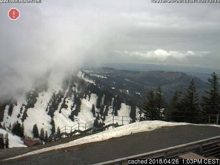 Oberstaufen/Hochgrat webcam at lunchtime today