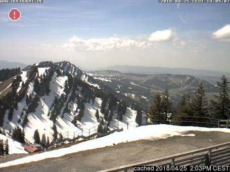 Oberstaufen/Hochgrat webcam at 2pm yesterday