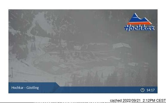 Hochkar-Göstling webcam at lunchtime today