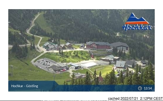 Hochkar-Göstling webcam at 2pm yesterday