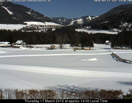 Hohentauern webcam at 2pm yesterday
