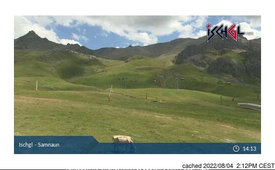 Ischgl webcam at lunchtime today
