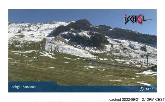 Ischgl webcam hoje à hora de almoço