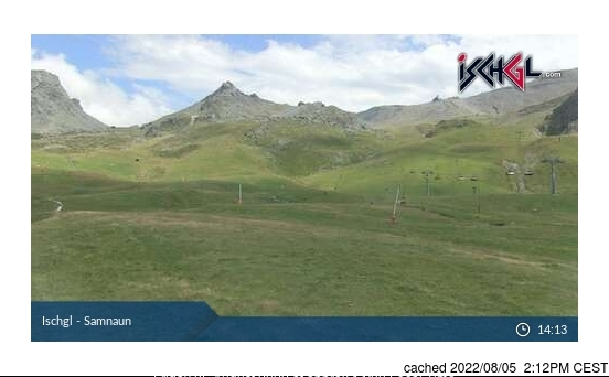 Ischgl webcam at 2pm yesterday