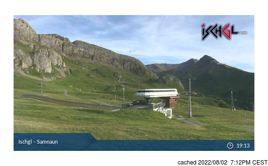 Live Snow webcam for Ischgl