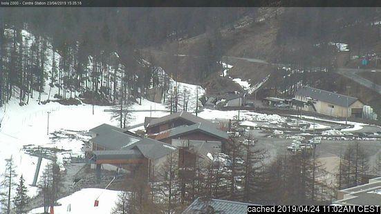 Isola 2000 webkamera v době oběda