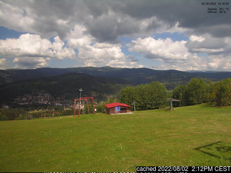 Jablonec nad Jizerou - Kamenec webcam at 2pm yesterday