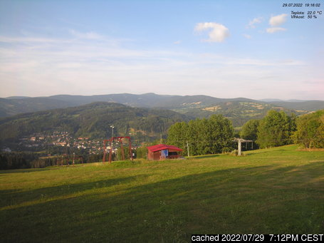 Live Snow webcam for Jablonec nad Jizerou - Kamenec
