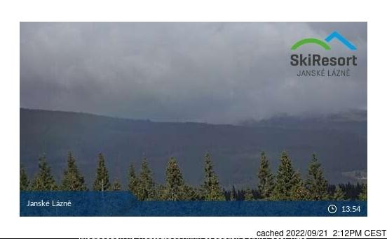 Jánské Lázně - Černá hora webcam at lunchtime today